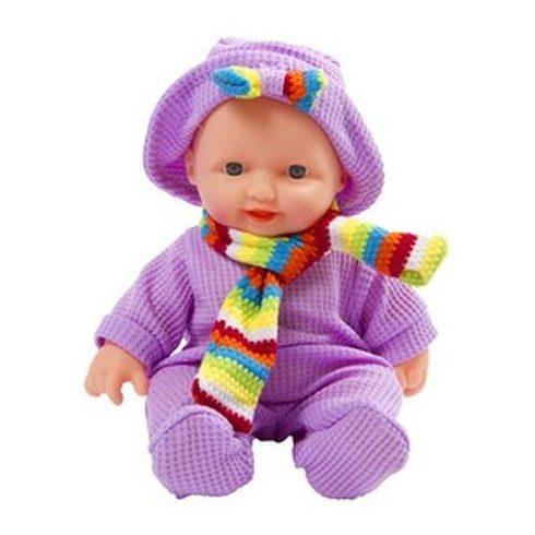 Játékbaba ruhában sállal - 24 cm   KP JÁTÉK