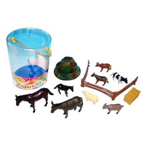 Műanyag háziállat 10 darabos készlet - 10 - 15 cm   KP JÁTÉK