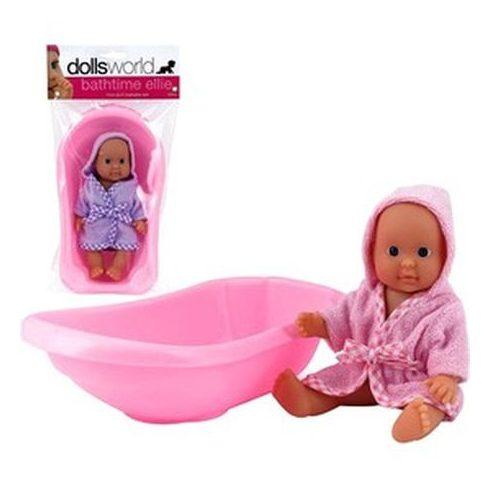 Ellie fürdethető baba káddal - 18 cm | KP JÁTÉK