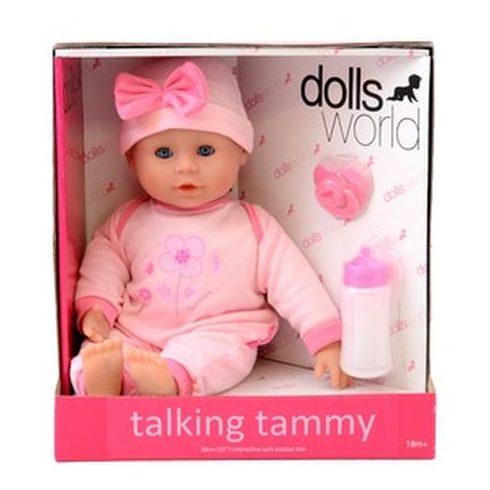 Beszélő és alvó puha baba - rózsaszín ruhában 38 cm | KP JÁTÉK